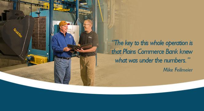 Mike Feilmeier working with Jason Appel of Plains Commerce Bank