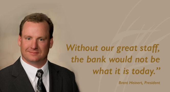 Plains Commerce Bank President Brent Heinert